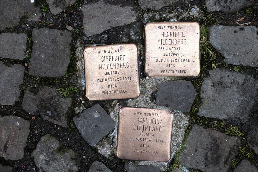 Stolpersteine Telgte: Siegfried und Henriette Mildenberg, Karl-Heinz Steinhardt