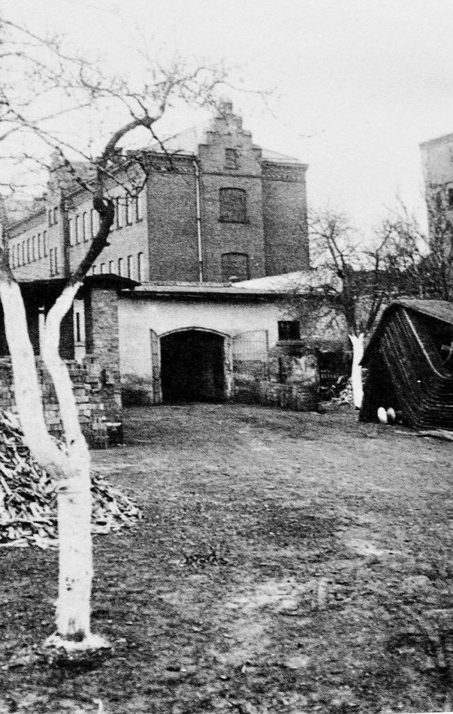 Schuppen im ehemaligen Zuchthaus Brandenburg, Ort der Ermordung